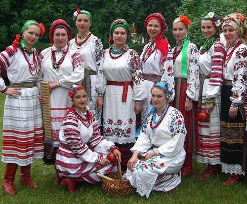 Ukrainian S And Women In Traditional Costumes