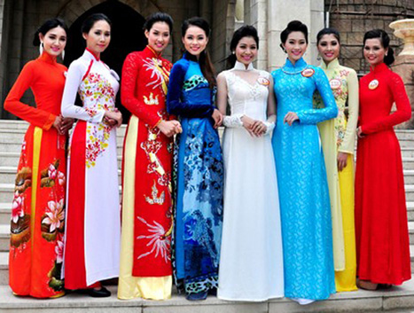 National Clothing In Vietnam Ao Dai Conical Hats And