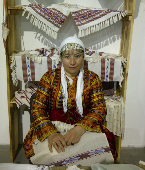 Turkish-woman with-towels