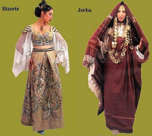 traditional female costumes from different regions of