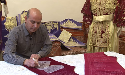 Algerian embroidering