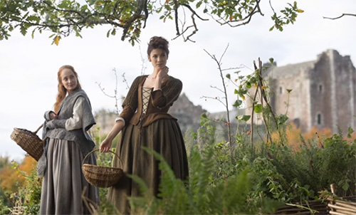 Stage Costumes Of Outlander Series Scottish Outfits Of Claire Fraser In Season 1 Nationalclothing Org