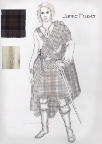 Stage costumes of Outlander series, season 1. Scottish folk